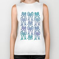 bows Biker Tanks featuring Bows by Jessica Slater Design & Illustration
