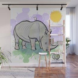 Rhinoceros Wall Mural