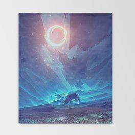 Stellar collision Throw Blanket