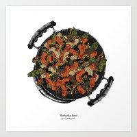 pasta Art Prints featuring Pasta! by Giulia Orissa