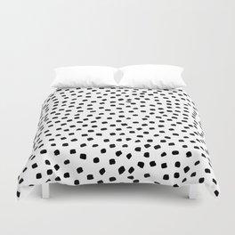 Dalmatian Dots Black White Spots Duvet Cover