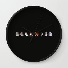 Bloodmoon moonphases Wall Clock