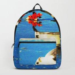 Gull Eating Breakfast Backpack