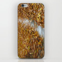 Abstract of autumnal leaves in the waves on Buttermere. Lake District, UK. iPhone Skin