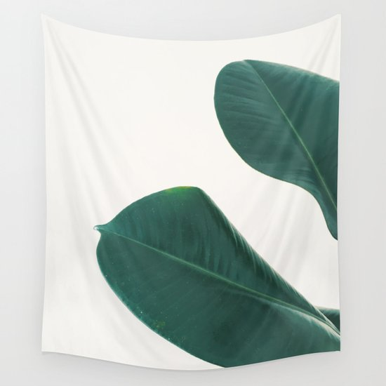 rubber fig leaves i wall tapestry by cassia beck society6