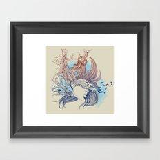 Tree Girl Framed Art Print