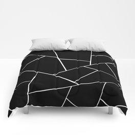 Black White Geometric Glam #2 #geo #decor #art #society6 Comforters