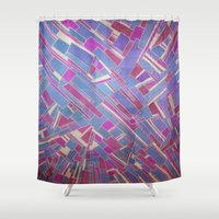 tina crespo Shower Curtains featuring Tina by Marina Scheinost
