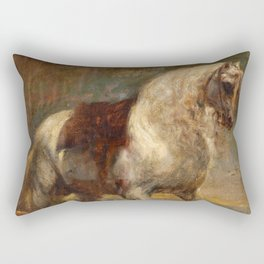 "Sir Anthony van Dyck ""A Grey Horse"" Rectangular Pillow"