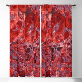 Marble Ruby Blood Red Agate Blackout Curtain