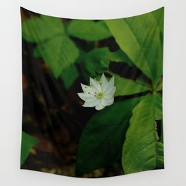Wild Strawberry Blossom Wall Tapestry