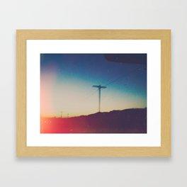roadside views Framed Art Print