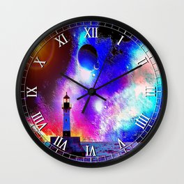 Lighthouse to the stars Wall Clock