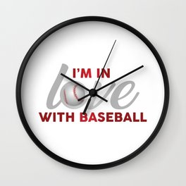 I'm in LOVE with Baseball Wall Clock