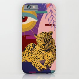 The Big Eye Leopard abstract iPhone Case