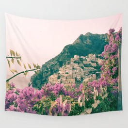 Flowers in Positano, Italy on the Amalfi Coast Wall Tapestry