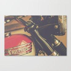 Vintage Triumph Bonneville Motorcycle Canvas Print