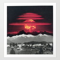 apocalypse now Art Prints featuring Apocalypse Then And Now by French For Gluing