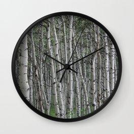 Among the Aspens Wall Clock