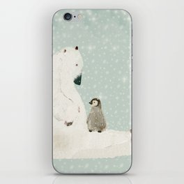 penguin and bear iPhone Skin