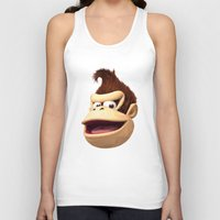 donkey kong Tank Tops featuring Triangles Video Games Heroes - Donkey Kong by s2lart