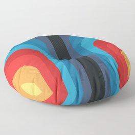 Retro Rainbow 01 Floor Pillow