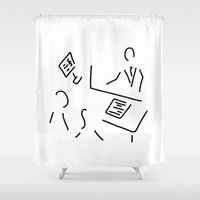 lawyer Shower Curtains featuring tax adviser lawyer tax office by Lineamentum