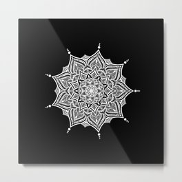 Black mndala for fun Metal Print