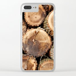 Cut logs Clear iPhone Case
