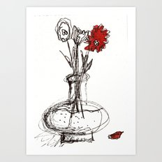 Red Petal Art Print