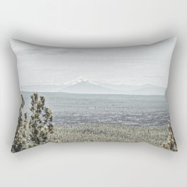 True Grain // Gritty Desaturated Detail of the Oregon Coast Mountains and Woods Rectangular Pillow