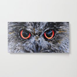 Sight: The Eyes of an Eagle Owl Metal Print