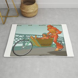 Sasquatch: Wild and Woolly Bicycles Rug