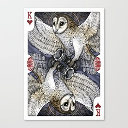 Owl Deck: King of Hearts Canvas Print
