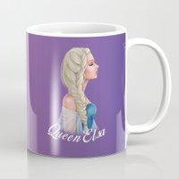 elsa Mugs featuring Elsa by Jolenebydesign
