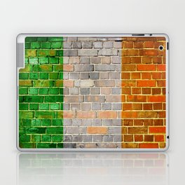 Ireland flag on a brick wall Laptop & iPad Skin