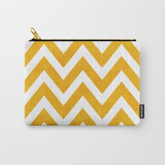 yellow chevron Carry-All Pouch