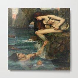 """The Siren"" by John William Waterhouse (1900) Metal Print"