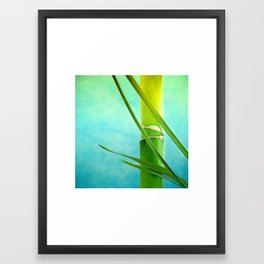 WELLNESS BAMBOO Framed Art Print