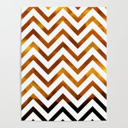 Golden Chevrons Poster