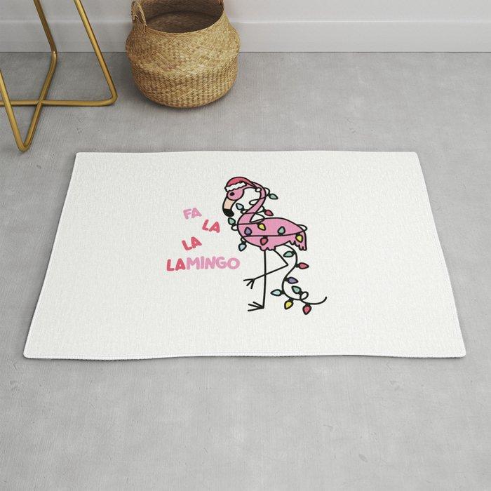 Christmas Flamingo Rug