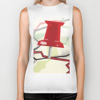 paper towns Biker Tanks featuring Paper Towns by dreki