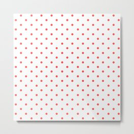 Dotted (Red & White Pattern) Metal Print