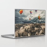 balloons Laptop & iPad Skins featuring Balloons by Mrs Araneae
