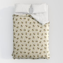 Busy Bees on buttermilk Pattern Comforters