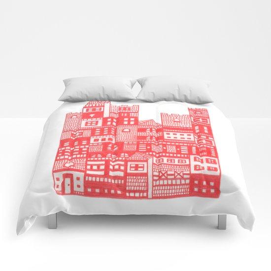 Tangerine Castle Comforters