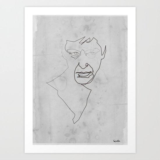 One line Scarface Art Print