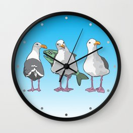 California Seagull Wall Clock