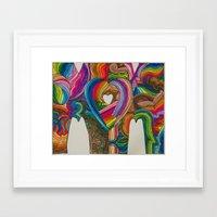 mom Framed Art Prints featuring Mom by Kk307 Karyn Deveraux