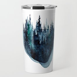 Turquoise Glow - Pine Forest Travel Mug